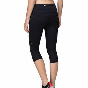 Lululemon Run: Pace Crop Training Leggings Black